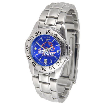 Boise State Broncos Ladies AnoChrome  Steel Band Sports Watch