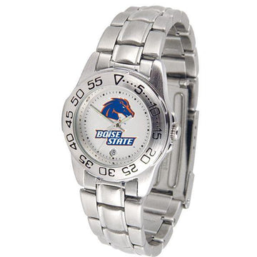 Boise State Broncos Ladies Steel Band Sports Watch