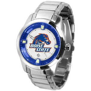 Boise State Broncos Men's Titan Stainless Steel Band Watch-Watch-Suntime-Top Notch Gift Shop