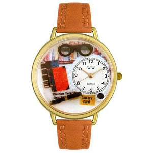 Book Lover Watch in Gold (Large)-Watch-Whimsical Gifts-Top Notch Gift Shop