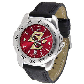 Boston College Eagles Mens AnoChrome Leather Band Sports Watch