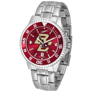 Boston College Eagles Mens Competitor AnoChrome Steel Band Watch w/ Colored Bezel-Suntime-Top Notch Gift Shop