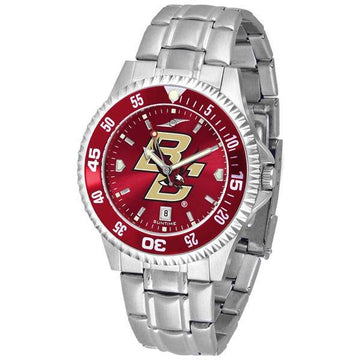 Boston College Eagles Mens Competitor AnoChrome Steel Band Watch w/ Colored Bezel