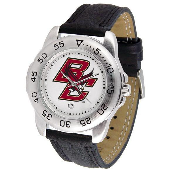 Boston College Eagles Mens Leather Band Sports Watch-Suntime-Top Notch Gift Shop