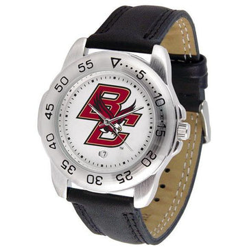 Boston College Eagles Mens Leather Band Sports Watch