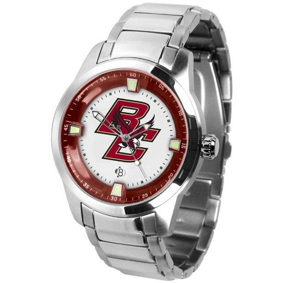 Boston College Eagles Titan Stainless Steel Band Watch-Suntime-Top Notch Gift Shop