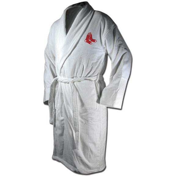 Boston Red Sox White Terrycloth Bathrobe-Bathrobe-Wincraft-Top Notch Gift Shop