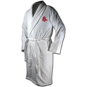 Boston Red Sox Terrycloth Bathrobe - White-Wincraft-Top Notch Gift Shop