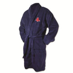 Boston Red Sox Navy Terrycloth Bathrobe-Bathrobe-Wincraft-Top Notch Gift Shop