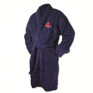 Boston Red Sox Navy Terrycloth  Bathrobe