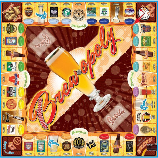 Brew-opoly Beer Monopoly board Game-Game-Late For The Sky-Top Notch Gift Shop