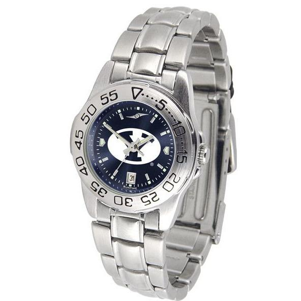 Brigham Young Cougars Ladies AnoChrome Steel Band Sports Watch-Suntime-Top Notch Gift Shop