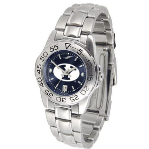 Brigham Young Cougars Ladies AnoChrome Steel Band Sports Watch-Watch-Suntime-Top Notch Gift Shop