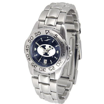 Brigham Young Cougars Ladies AnoChrome  Steel Band Sports Watch