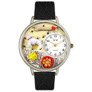 Bulldog Watch in Silver (Large)-Whimsical GiftsTop Notch Gift Shop