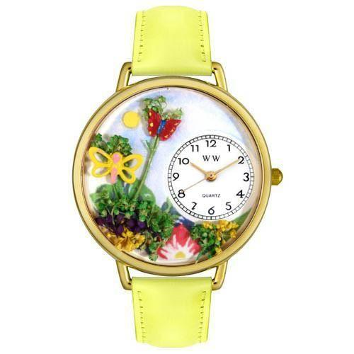 Butterflies Watch in Gold (Large)-Watch-Whimsical Gifts-Top Notch Gift Shop