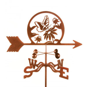 Butterfly & Flowers Weathervane-Weathervane-EZ Vane-Top Notch Gift Shop