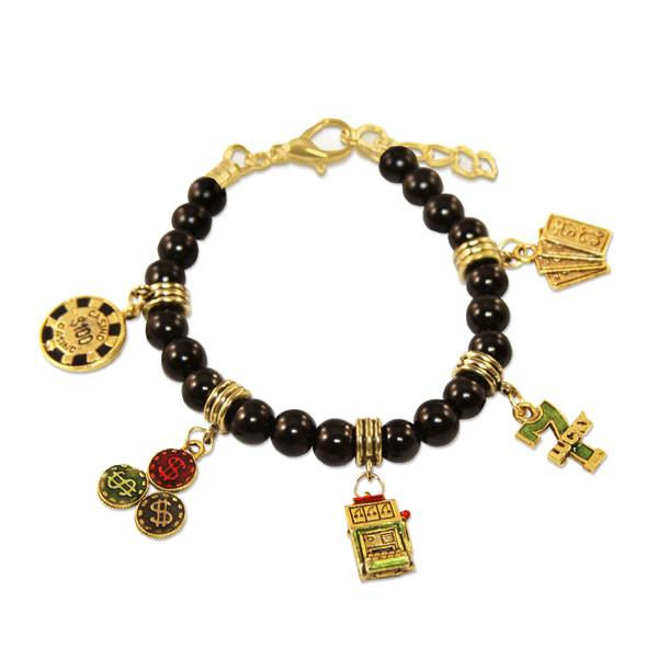 Casino Charm Bracelet in Gold-Whimsical GiftsTop Notch Gift Shop