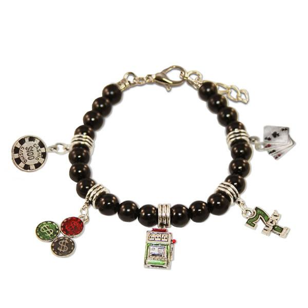 Casino Charm Bracelet in Silver-Whimsical GiftsTop Notch Gift Shop