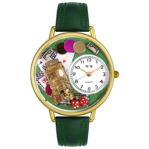 Casino Watch in Gold (Large)-Watch-Whimsical Gifts-Top Notch Gift Shop