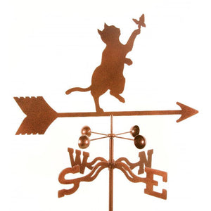 Cat & Butterfly Weathervane-Weathervane-EZ Vane-Top Notch Gift Shop