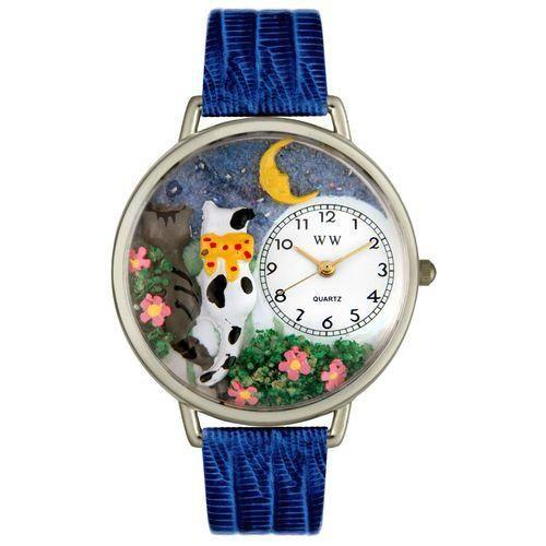 Cats Night Out Watch in Silver (Large)-Watch-Whimsical Gifts-Top Notch Gift Shop