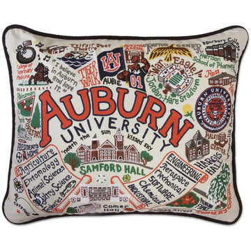 Auburn University Embroidered Pillow by Catstudio