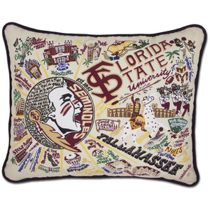 CatStudio Embroidered Florida State University Pillow-Catstudio-Top Notch Gift Shop
