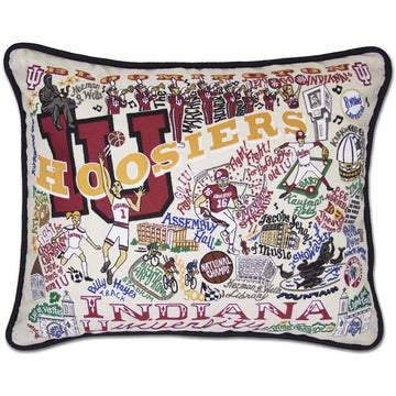 Indiana University Embroidered Catstudio Pillow