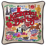 Kentucky Derby Embroidered Catstudio Pillow-Pillow-CatStudio-Top Notch Gift Shop