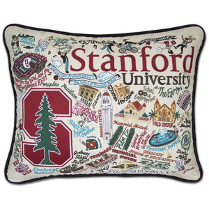 CatStudio Embroidered Stanford University Pillow-CatStudio-Top Notch Gift Shop