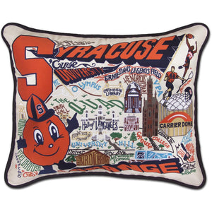 CatStudio Embroidered Syracuse University Pillow-Pillow-CatStudio-Top Notch Gift Shop