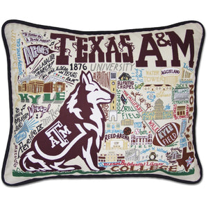 CatStudio Embroidered Texas A&M Pillow-CatStudio-Top Notch Gift Shop
