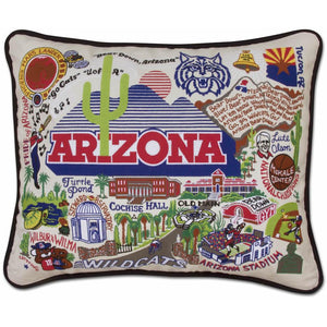 University of Arizona Embroidered Pillow by CatStudio-Pillow-CatStudio-Top Notch Gift Shop