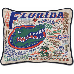 University of Florida Embroidered Catstudio Pillow-Pillow-CatStudio-Top Notch Gift Shop