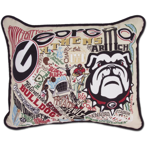 University of Georgia Pillow by Catstudio-Pillow-CatStudio-Top Notch Gift Shop