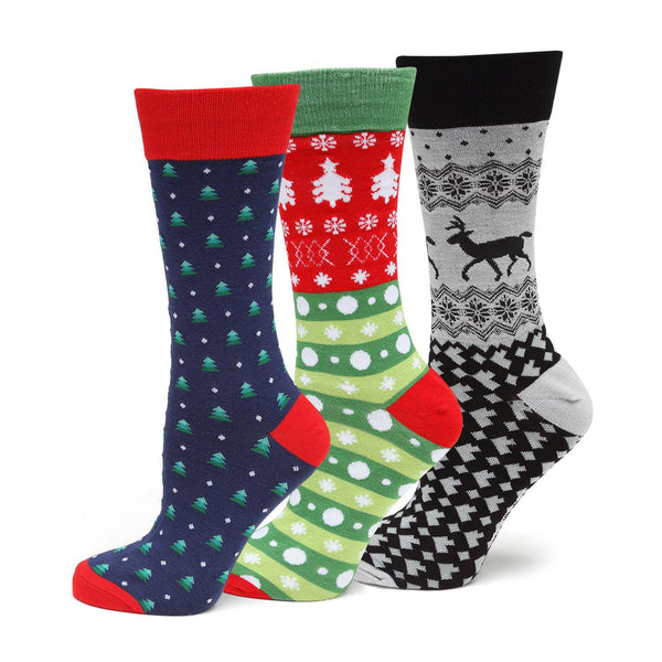 Holiday Sock 3 Pack Gift Set-Socks-Cufflinks, Inc.-Top Notch Gift Shop