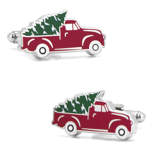 Holiday Truck Cufflinks-Cufflinks-Cufflinks, Inc.-Top Notch Gift Shop