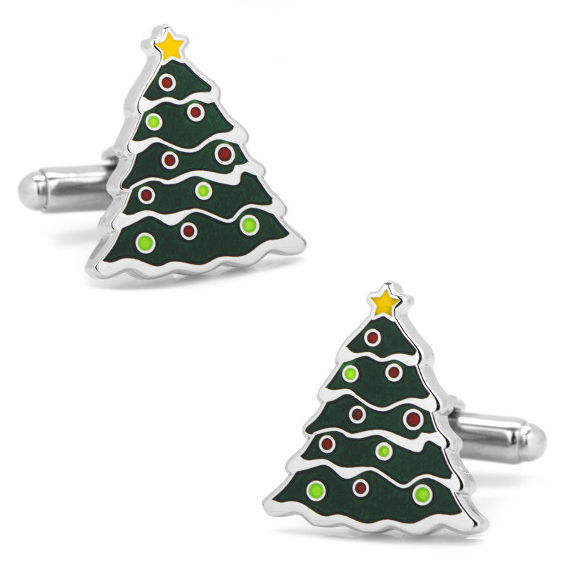 Christmas Tree Cufflinks-Cufflinks-Cufflinks, Inc.-Top Notch Gift Shop