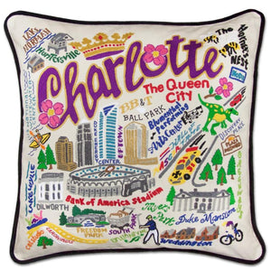 Charlotte Embroidered Catstudio Pillow-Pillow-CatStudio-Top Notch Gift Shop