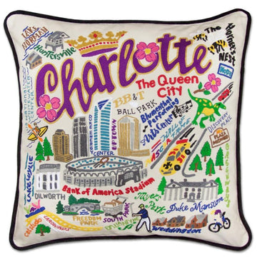 Charlotte Embroidered Catstudio Pillow