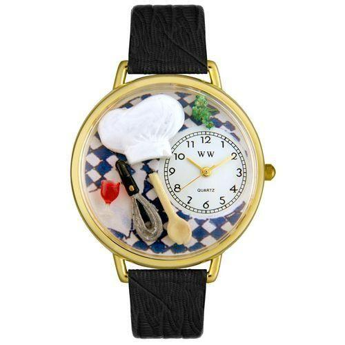Chef Watch in Gold (Large)-Watch-Whimsical Gifts-Top Notch Gift Shop
