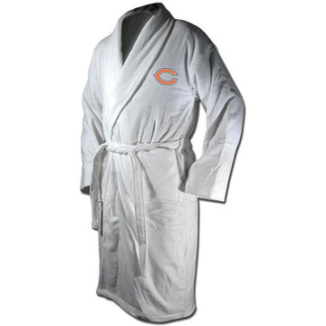 Chicago Bears White Terrycloth Bathrobe