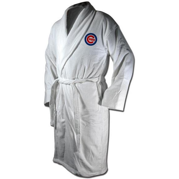 Chicago Cubs Terrycloth Logo Bathrobe-Wincraft-Top Notch Gift Shop