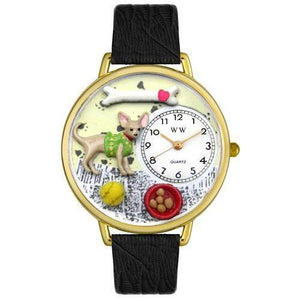 Chihuahua Watch in Gold (Large)-Watch-Whimsical Gifts-Top Notch Gift Shop