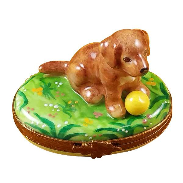 Chocolate Labrador Limoges Box by Rochard-Limoges Box-Rochard-Top Notch Gift Shop