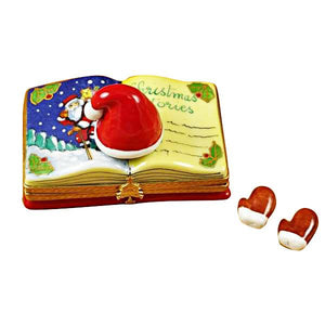 "Christmas Book ""Christmas Stories"" Limoges Box by Rochard™-Limoges Box-Rochard-Top Notch Gift Shop"