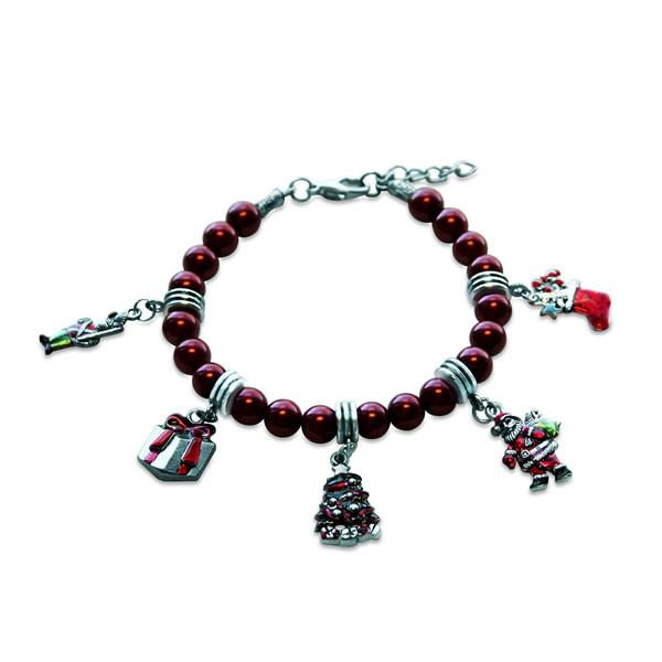 Christmas Charm Bracelet in Silver-Whimsical GiftsTop Notch Gift Shop