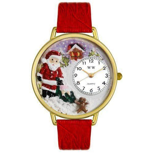 Christmas Santa Claus Watch in Gold (Large)-Watch-Whimsical Gifts-Top Notch Gift Shop