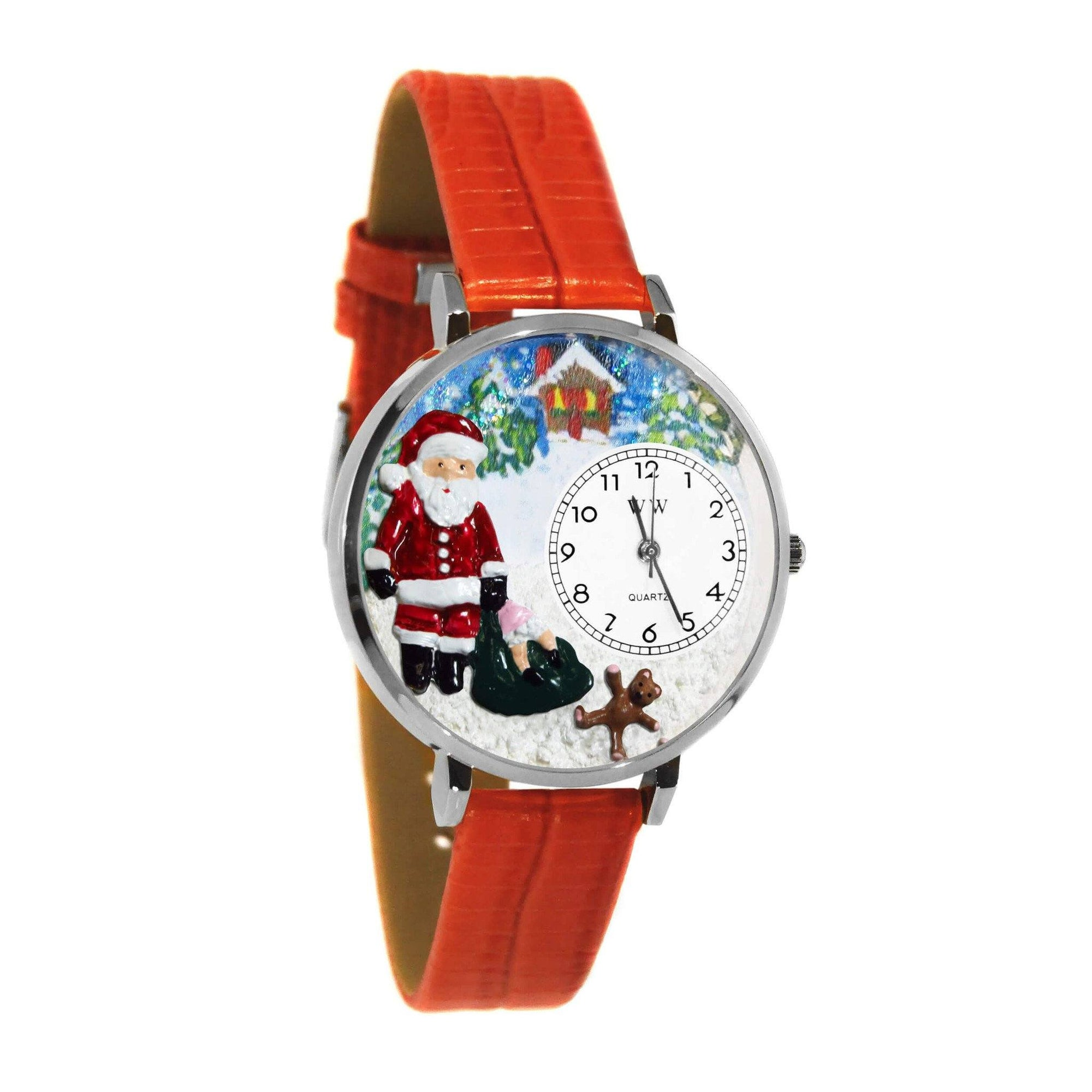 Christmas Santa Claus Watch in Silver (Large)-Watch-Whimsical Gifts-Top Notch Gift Shop